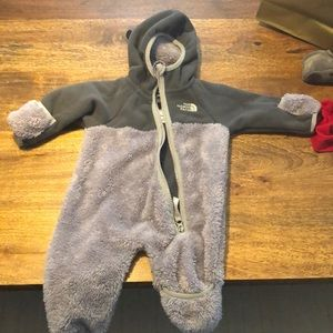 north face one piece zip up snowsuit worn 3 times